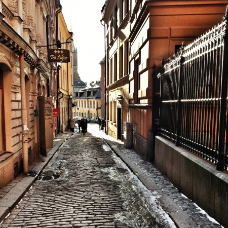 The old alley in Gamla stan