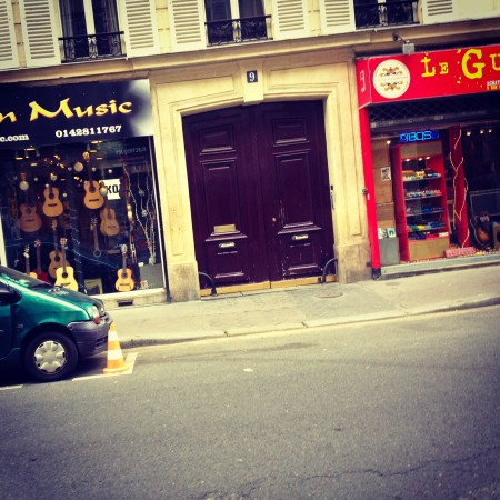 The street in Paris with all the guitar shops